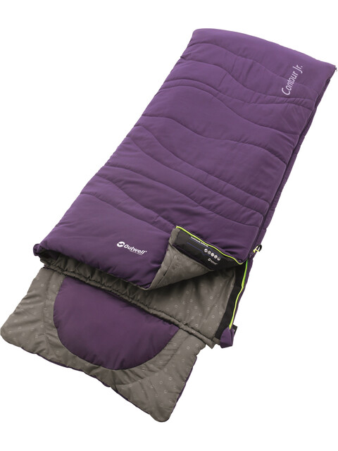 Outwell Contour Sleeping Bag Junior Eggplant Purple